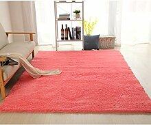 rugs Supermarket- Super Soft - Teppich - Home Teppich + Einfach zu reinigen Anti-Fade - Mehrfarbig Optional ( Farbe : Watermelon Pink , größe : 80*200cm )