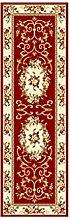rugs Supermarket- Teppich Anti-Bakterielle Gummi rutschfest / Slip Dekorative Küche Teppichläufer Moderne dünne Indoor Floor Area Teppiche für Küche ( Farbe : Rot , größe : .08*2.5-A )