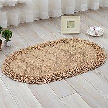 rugs Supermarket- Teppich Chenille Matten Fußmatte Badezimmer Wohnzimmer Matte Rutschfeste Matte ( Farbe : Beige , größe : 40*60cm )