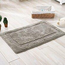 rugs Supermarket- Teppich doppelseitig Verdickung Pad Chenille Matten Fußmatte Badezimmer Wohnzimmer Mat ( Farbe : Grau , größe : 40*60cm )