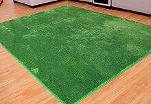 rugs Supermarket- Teppich Eingangs Eingangsmatte Schlafzimmer Türmatten Bad absorbierende Matte Fuß Pad ( Farbe : Grün , größe : 40*80cm )