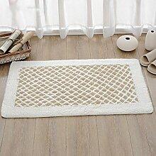 rugs Supermarket- Teppich Wohnzimmer Matten rutschfeste Matte Bad Türmatten Schlafzimmer Türmatten Fuß Pad ( Farbe : Weiß , größe : 50*80cm )