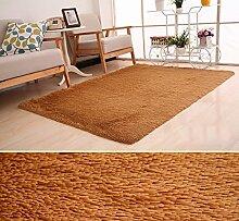 rugs Supermarket- Teppich Wohnzimmer Teppich Zimmer Nachttisch Schlafzimmer Mat ( Farbe : Khaki , größe : 50*80CM )