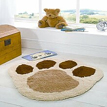 Rugs With Flair Kinder-Teppich Puppy Paw - Tierpfote - Natur - 70 x 80 cm