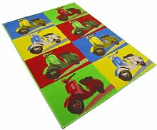 Rugs With Flair Retro Funky Scooter 120x 160cm