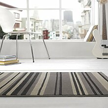 Rugs With Flair Teppich Element Canterbury - gestreift - Grau/Schwarz - 120 x 160 cm