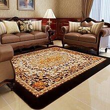 rugs Wohnzimmer Schlafzimmer Rechteckiger Teppich, Pastoral Serie ( Farbe : 037 brown , größe : 200*235cm )