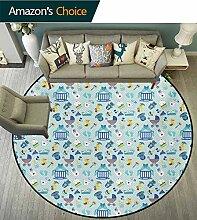 RUGSMAT Baby-Teppich, runde Fläche, Giraffen,