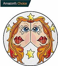 RUGSMAT Badvorleger mit Sternzeichen Zwillinge
