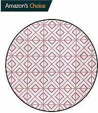 RUGSMAT Teppich, rosafarben, rund, handgemaltes
