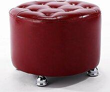 Ruhiger Hocker / Hocker / für Schuhhocker, Mode einfach, bequem und langlebig ( Farbe : Rot )