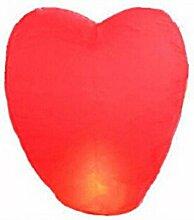 Ruichy Herzform Himmel-Laternen, Packung mit 10 St¨¹ck Red