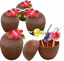 Ruier-hui Hawaii Accessoire Kokosnuss Becher mit