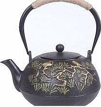 RUIKA Japanische Tetsubin-Teekanne aus Gusseisen,