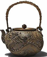 RUIKA Japanische Tetsubin-Teekanne, Gusseisen,
