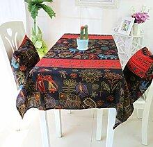 Ruiqieor-Tablecloth-Retro Tischdecke Aus Baumwolle