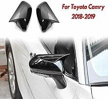 RUIRUI Türspiegelabdeckung Horn Glossy Black Car