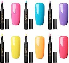 ruiyoupin Gel Nägel Nagellack Pen 4/6 Farben Gel