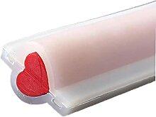 Ruluti 1 Stück Silikonrohrsäule Herz-förmige