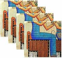 Rulyy Stoffservietten Antike Ethnische Ägyptische