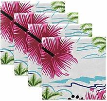 Rulyy Stoffservietten Tropische Palme Blume