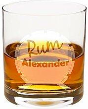Rum Glas mit Gravur: graviertes Rumglas mit