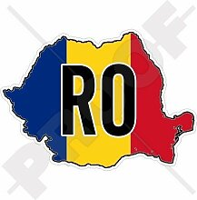 RUMÄNIEN Rumänische Karten-Flagge 120mm Auto &