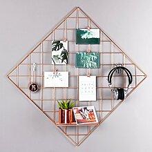 Rumcent Mesh Grid Panel, Wanddekoration, Fotowand,