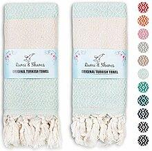 RUMI & SHAMS Türkisches Handtuch für Bad und