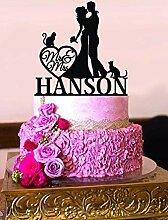Rummy Cake Topper Hochzeit mit Katze Custom Name