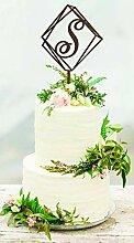 Rummy S Cake Topper Hochzeit Cake Topper Initial