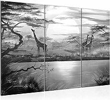 Runa Art Afrika Giraffe Bild Wandbilder Wohnzimmer