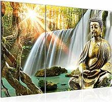 Runa Art Buddha Wasserfall Bild Wandbilder