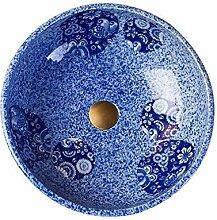 Rund Art Waschbecken, Haushalt Keramik-Waschbecken