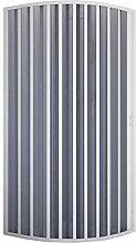 Rund-Duschkabine in PVC 80x80 CM Radius 55 H185