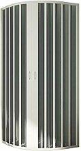 Rund-Duschkabine in PVC 90x70 CM Radius 38 H185