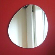 Rund Kieselstein Spiegel 50cm x 46cm