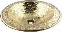 Rund Kupfer handgefertigtes marokkanisches Bad -