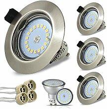 Rund LED Set 4 Stück Einbaustrahler 5W 18PCS High