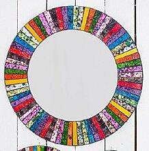 Rund Rainbow Stripe Mosaik Spiegel 60cm