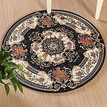 Rund Teppich Computer Stuhl Decke Teppich Wohnzimmer Couchtisch Schlafzimmer Nachtdecke 90 cm Runde ( Farbe : Dunkelblau )