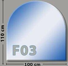 Rundbogen F03 Funkenschutzplatte Glasbodenplatte