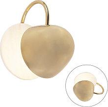 Runde Art Deco Wandlampe Gold mit Marmor - Siren