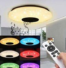 Runde Bluetooth-Lautsprecher-LED-Deckenleuchte,