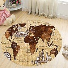 Runde Bodenmatte Baby Spielmatte Teppich Babyzimmer Dekoration,80Cm