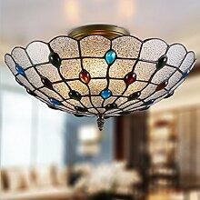 Runde Decke Lampe Schlafzimmer Lichter Warm Glas Aisle Retro American Restaurant Lampen