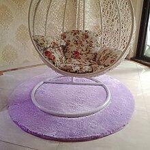 Runde Dekoration Teppich,Floating window Teppich Kissen für computerstuhl Schlafzimmer Bett] Teppich-D diameter120cm(47inch)