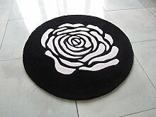Runde Dekoration Teppich,Sch?ne] Kind] Teppich Schlafzimmer Bett] Teppich-E Durchmesser160cm(63inch)