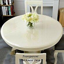 Runde Durchsichtige Kunststoff Tischschutz