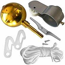 Runde Form Gold Ball Cleat Clip Schrauben Hof